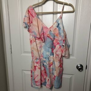 1.State Watercolor Romper